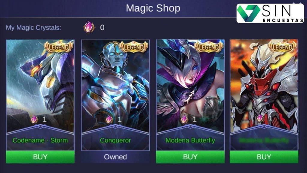mobile legends skin gratis